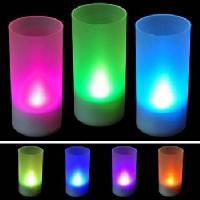 Plastic 7 Color LED Candles
