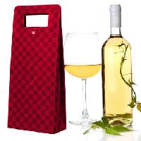 Double Vessel Leather Wine Bag