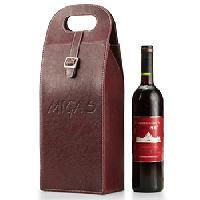 Dual Leather Wine Bag