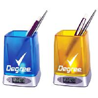 LoKo Pen Holder with Clock