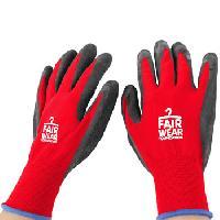 Nylon Latex Safety Gloves