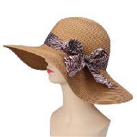 Summer Straw Hat With Ribbon Visor