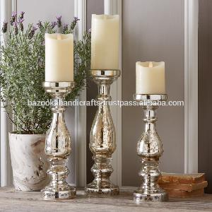 Glass Pillar Candle Holder 01