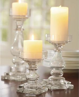 Glass Pillar Candle Holder 03
