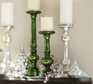 Glass Pillar Candle Holder 07