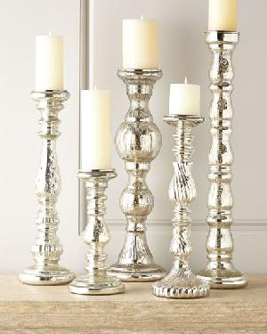Glass Pillar Candle Holder 08