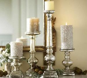 Glass Pillar Candle Holder 09