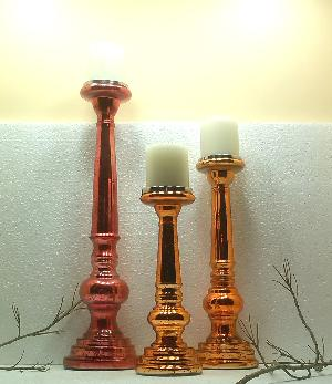 Glass Pillar Candle Holder 24