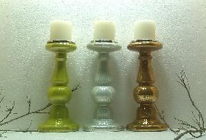 Glass Pillar Candle Holder 26