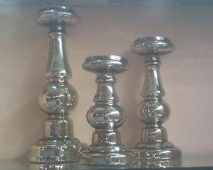 Glass Pillar Candle Holder 46
