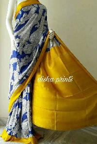 Block Printed Silk Saree 02