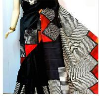 Block Printed Silk Saree 03