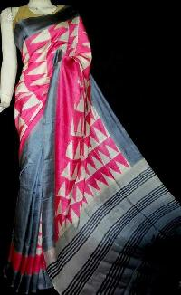 Block Printed Silk Saree 05