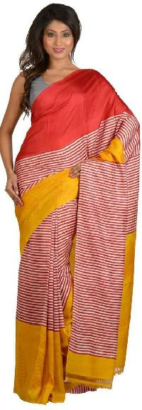 Block Printed Silk Saree 10