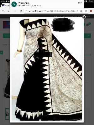 Block Printed Silk Saree 13