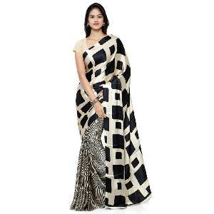 Block Printed Silk Saree 15