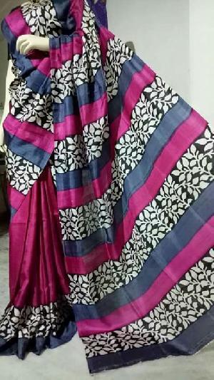 Block Printed Silk Saree 17