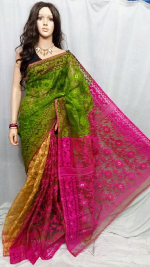 Dhakai Jamdani Saree Without Blouse 01