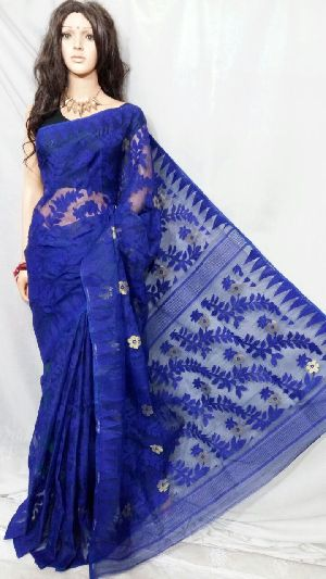 Dhakai Jamdani Saree Without Blouse 05