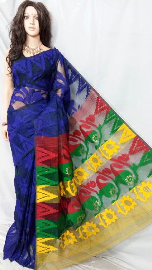 Dhakai Jamdani Saree Without Blouse 07
