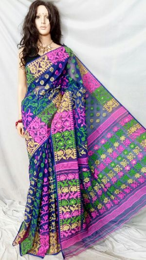 Dhakai Jamdani Saree Without Blouse 09