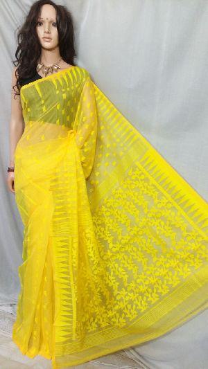 Dhakai Jamdani Saree Without Blouse 13