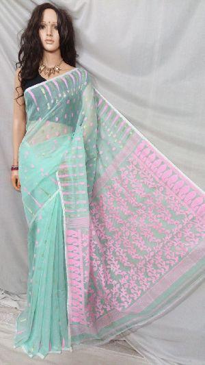 Dhakai Jamdani Saree Without Blouse 14