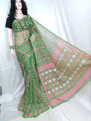 Dhakai Jamdani Saree Without Blouse 15