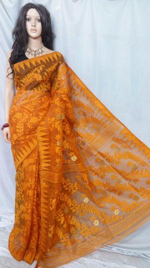 Dhakai Jamdani Saree Without Blouse 16