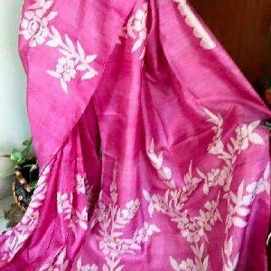 Hand Block Pure Silk Saree 02