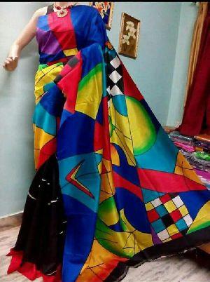 Hand Block Pure Silk Saree 05