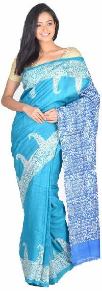 Hand Block Printed Saree 03