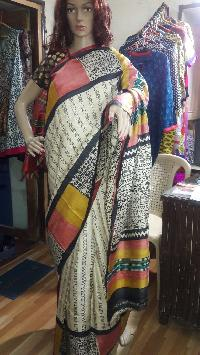 Hand Block Printed Saree 07