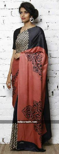 Hand Block Printed Saree 11