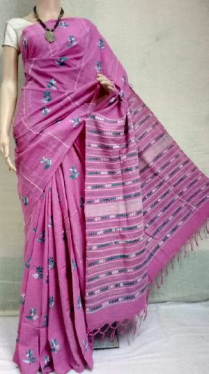 Kesh Cotton Saree Katha Stitch