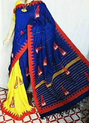 Khadi Saree With Blouse 11