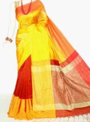 Silk Cotton Saree With Blouse 03