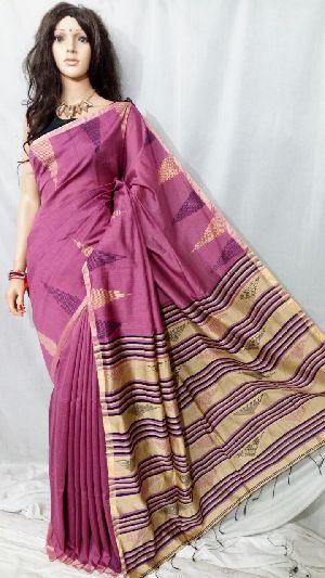 Silk Cotton Saree With Blouse 04