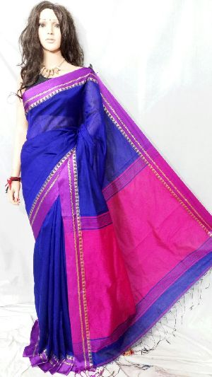 Silk Cotton Saree With Blouse 07