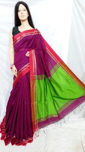 Silk Cotton Saree With Blouse 08