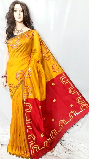 Silk Cotton Saree With Blouse 09