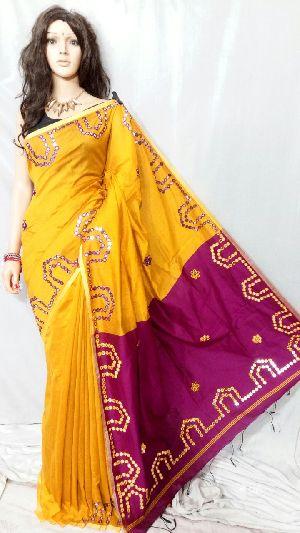 Silk Cotton Saree With Blouse 11