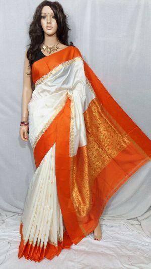 Silk Cotton Saree With Blouse 13