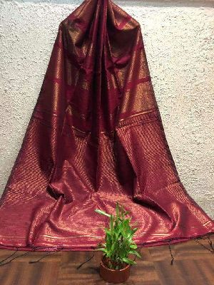 Silk Cotton Saree With Blouse 14