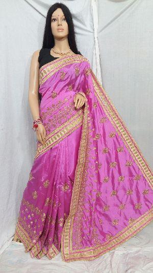 Silk Cotton Saree With Blouse 17