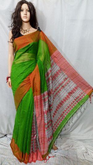 Silk Cotton Saree With Blouse 19