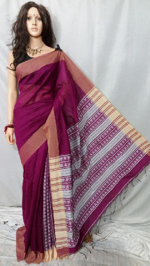 Silk Cotton Saree With Blouse 20