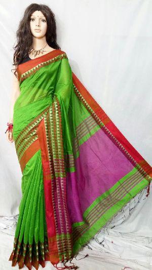 Silk Cotton Saree With Blouse 21