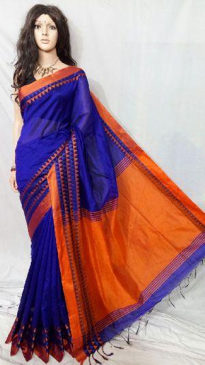 Silk Cotton Saree With Blouse 22