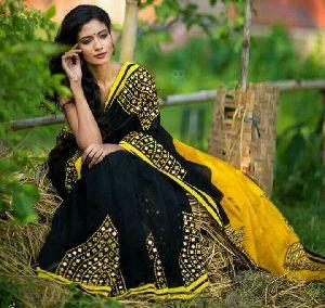 Silk Cotton Saree With Blouse 23